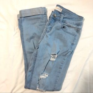 Fashion Nova Jeans - Distressed Ripped Light Washed Jeans
